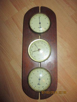 Wetterstation 1971 Wetterwarte 5362 Eschenbach Thermometer Barometer Hygrometer Bild