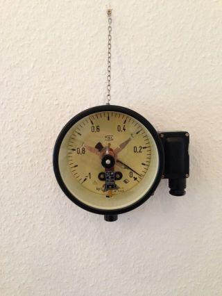 Industrie Design Manometer Druckmess - Gerät Industrial Chic Jielde Loft Vintage Bild