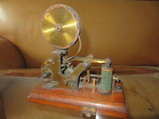 Antikes Morseempfangsgerät Morsegerät 19.  Jhdt.  Messing Bild