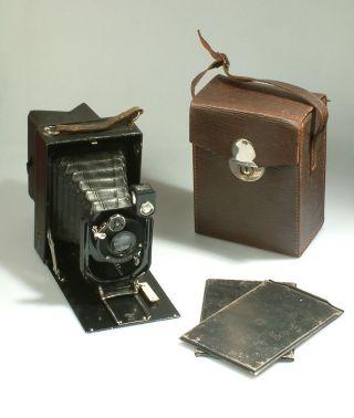 Alte 9x12 Balgenkamera Ihagee Mit Triplex Anastigmat 6,  8 13,  5 Cm Bild