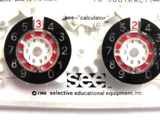 """""""see - Calculator"""" – """"pascaline"""" Mit Sichtbarer Mechanik - Rechenmaschine - Selten Bild"""
