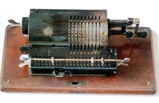 Brunsviga B1 - Sn 7144 - Baujahr 1902 - Mit Metallhaube - Rechenmaschine Bild