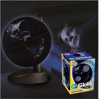 Glow In The Dark Globus Erde Tag Nacht Leuchtet Im Dunkeln Led Farbwechsel Welt Bild