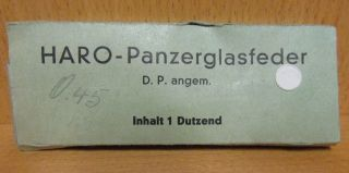 Schreibfedern Haro - Panzerglasfeder 8 Stck.  Wohl 20/30er Jahre Bild
