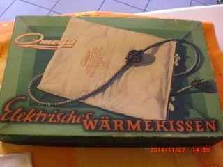 Heizkissen Marke Omega,  Ca.  50er - Jahre Bild