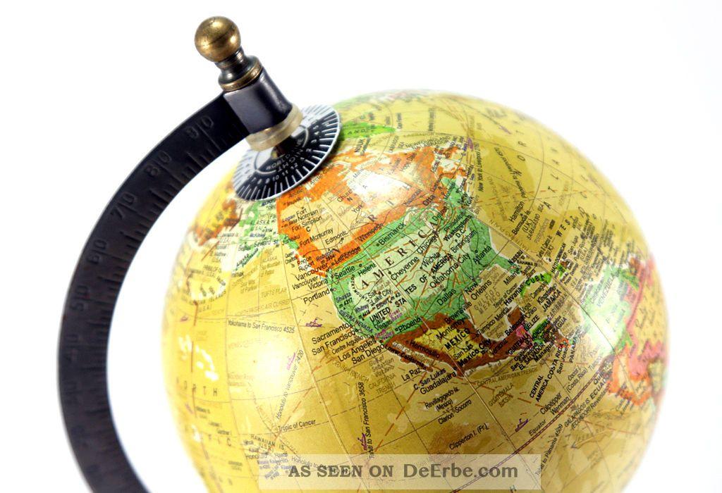 Globus Weltkugel Karte.Globus Deko Mini Weltkarte Weltkugel Metall Erdkugel Erde Welt