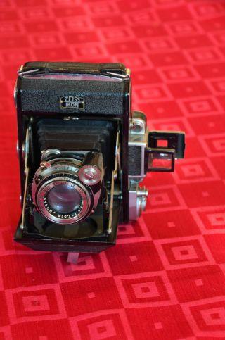 Zeiss Ikon Ikonta 531 / Rollfilmkamera Mit Ledertasche Bild