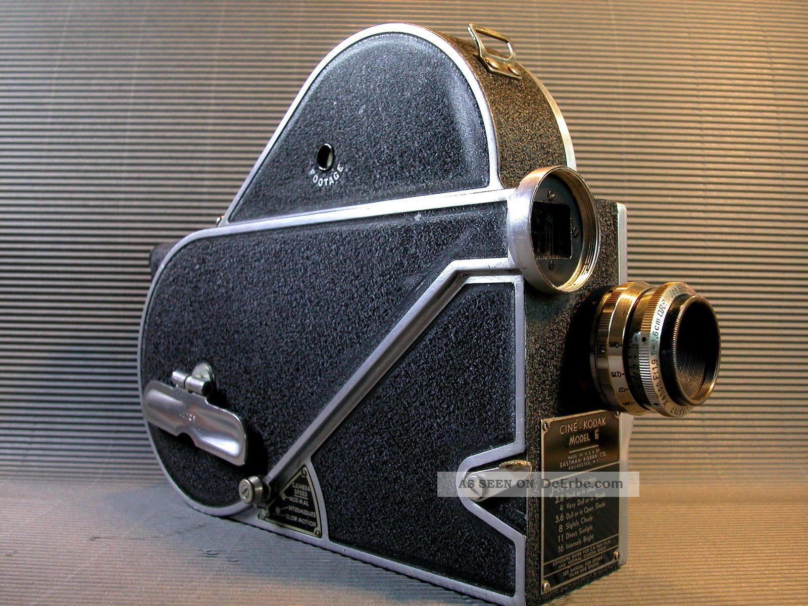 Kodak cine model e 16mm filmkamera federwerk 30er jahre for Mobel 30er jahre