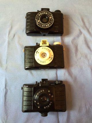 Pouva Start Kamera,  3 Stück,  Um 1960,  6x6,  Gut Erhalten,  Deutschland Bild