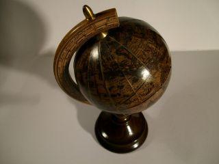 Antiker Globus Holz Globen Bild