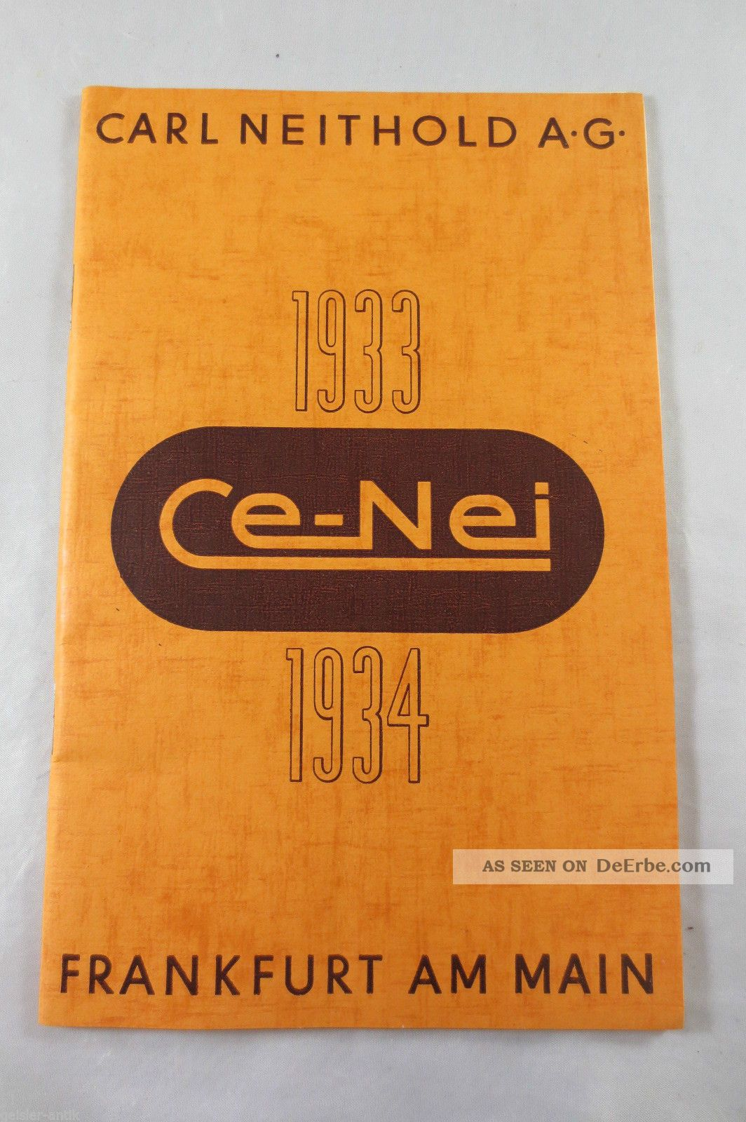 Katalog Ce - Nei Carl Neithold Frankfurt 1933/34 Kamera Fotoalbum Filter Lampen Photographica Bild