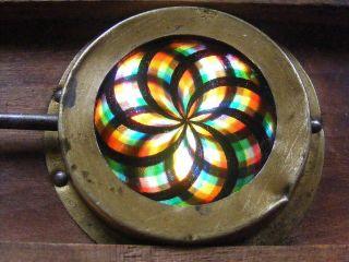 Antikes Chromatrop / Kaleidoskop Für Laterna Magica Bild