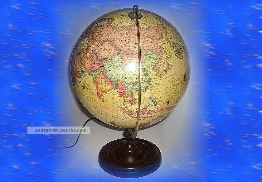 beleuchteter globus world antique scanglobe. Black Bedroom Furniture Sets. Home Design Ideas