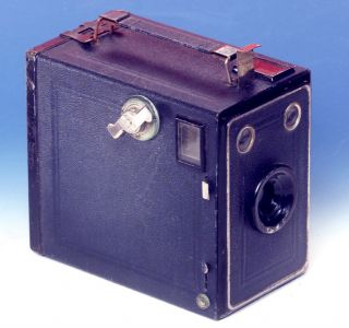 Balda Dresden Poka Ii Box 6x9 Dunkelblau 1929 Rollfilm 120 Bild