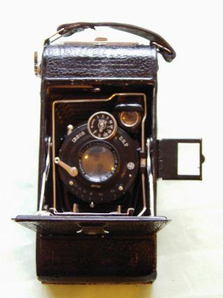 Wettel Alte Balgenkamera Ibsor D.  R.  P.  1920 /30 Mit Ledertasche Schöner Bild