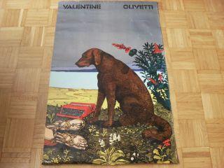 Milton Glaser (für Olivetti Valentine) 1970 Originalplakat Italian Design. Bild