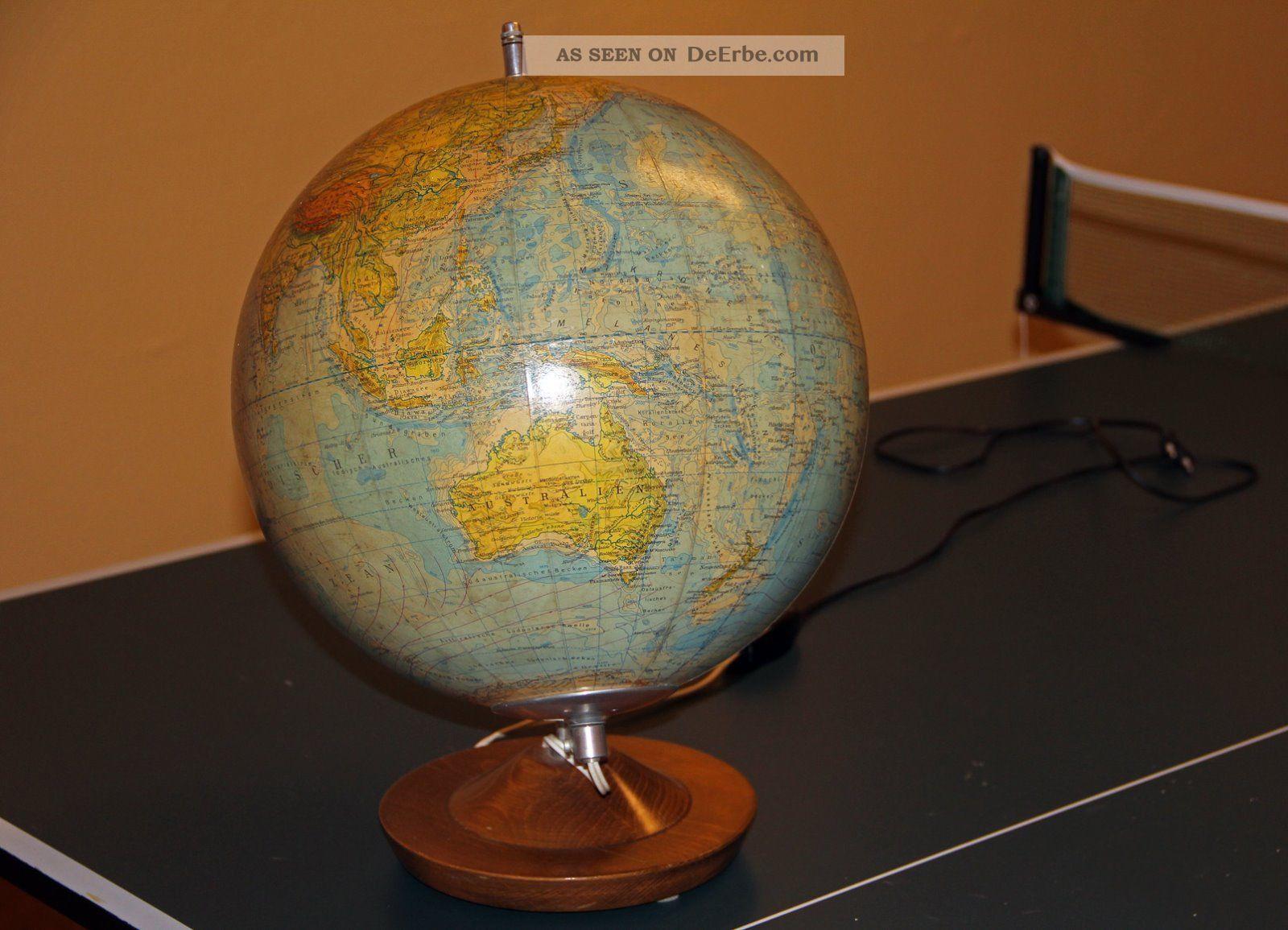 physikalischer erd globus 33cm durchmesser mit licht. Black Bedroom Furniture Sets. Home Design Ideas