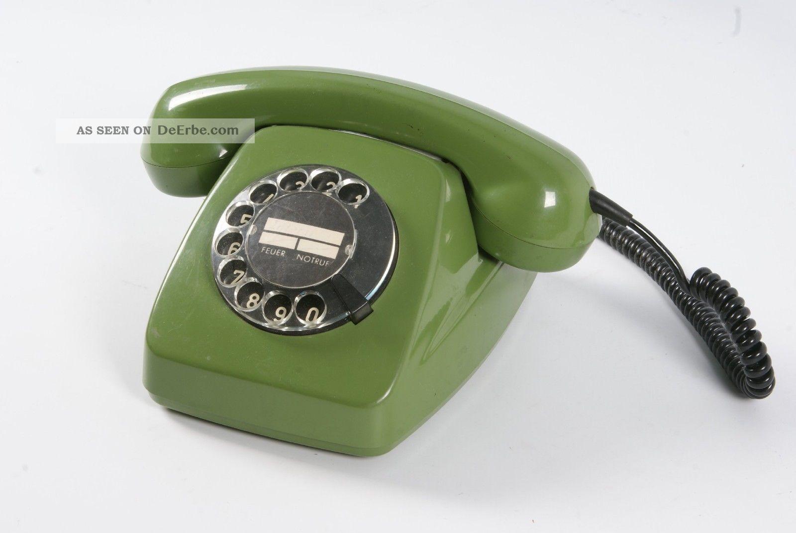 altes 60er 70er jahre post telefon post fetap 611 2 gr n mit w hlscheibe. Black Bedroom Furniture Sets. Home Design Ideas