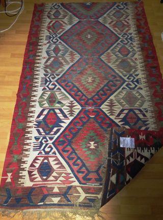 Antiker Handgeknüpfter Annatolien Kilim/kelimteppich Rug Tappetotapies,  Antiqe Bild