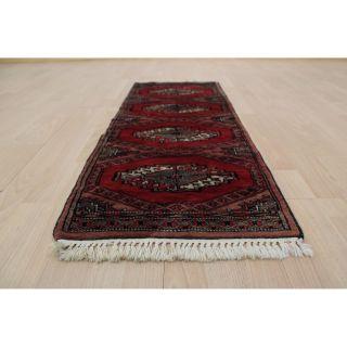 Prachtvoller Handgeknüpfter Orientteppich Buchara Yomut Tapis 125x47cm Rug 258 Bild