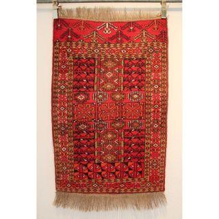 Alter Handgeknüpfter Orientteppich Afghan Art Deco Old Rug 80x125cm Carpet 256 Bild
