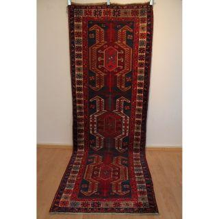 Antik Alter Handgeknüpfter Perser Orientteppich Läufer Tappeto Carpet 105x297cm Bild