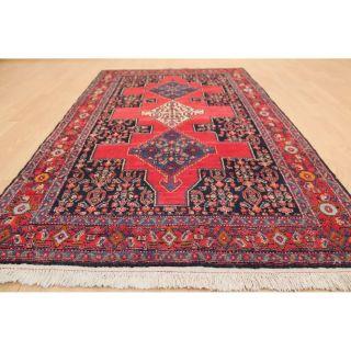 Großartiger Alter Feiner Hangeknüpfter Perser Orientteppich Zenneh Rug 112x193cm Bild