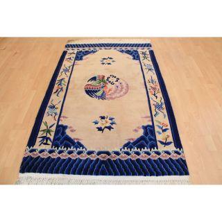 Prächtiger Handgeknüpfter China Art Deco Orientteppich Tappeto Rug 120x190cm Bild