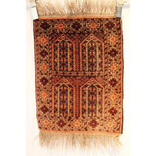 Schöner Alter Feiner Handgeknüpfter Orientteppich Belutsch Old Rug 67x47cm 255 Bild
