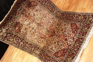 Seidenteppich Blumen Kaschmir Seide