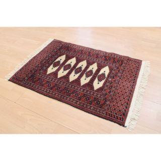 Prachtvoller Handgeknüpfter Orientteppich Buchara Yomut Tapis 95x64cm Rug 254 Bild