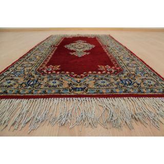 Königlicher Handgeknüpfter Orientteppich Blumen Spiegel Teppich 80x155cm 222 Bild