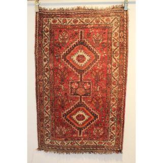 Alter Feiner Handgeknüpfter Orientteppich Kazak Pflanzenfarben 90x142cm Rug 237 Bild