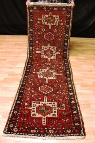 Alter Schöner Heriz Galerie 255x78 Läufer Orientteppich 3618 Carpet Tappeto Rug Bild