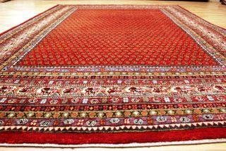 Handgeknüpfter Saruqh Mir Orient Top Nain Teppich Old Rug Carpet 325x220cm Bild