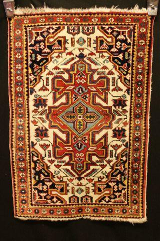 Schöner Blumen Bidijhahr 110x75cm Orient Teppich 3668 Nain Rug Carpet Tappeto Bild