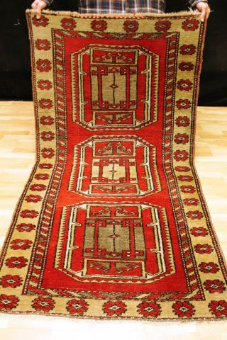 Alter Kars Milas Kazak 190x97cm Teppich Tappeto Carpet Tapis 3674 Rug Schirwan Bild