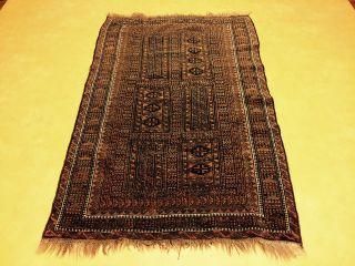 Antiker Belutsch Teppich 185x120cm Handgeknüpft Alt Alt Bild