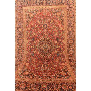 Großartiger Antiker Feiner Hangeknüpfter Perser Orientteppich Kes.  Korkwolle Rug Bild
