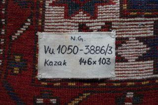 Musealer Kazak Um 1880,  Restituiert Aus Dem Nationalmuseum Prag.  Kasak Bild
