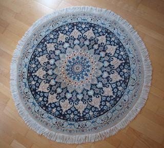 Sehr Schöner Persischer Nain,  Fein - Rund 116 Cm,  Mehr Als 800.  000 Knoten Pro M² Bild