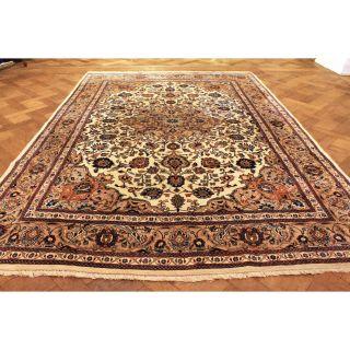 Wunderschöner Handgeknüpfter Dekorativer Orientteppich Blumen Teppich 210x310cm Bild