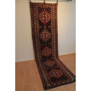 Schöner Handgeknüpfter Perser Orientteppich Zenneh Läufer 90cmx320cm Carpet Rug Bild