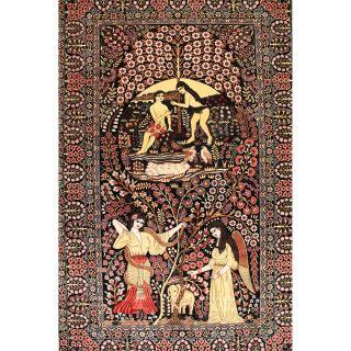 Prächtiger Feiner Handgeknüpfter Orient Seiden Teppich Hereke Märchen Teppich Bild
