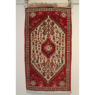 Alter Handgeknüpfter Perser Orientteppich Zenneh Kazak Tappeto 97x52cm Rug 250 Bild