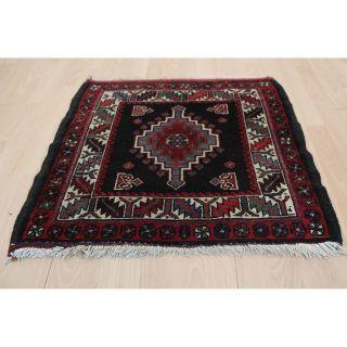 Alter Feiner Handgeknüpfter Orientteppich Kazak Pflanzenfarben 75x67cm Rug 249 Bild