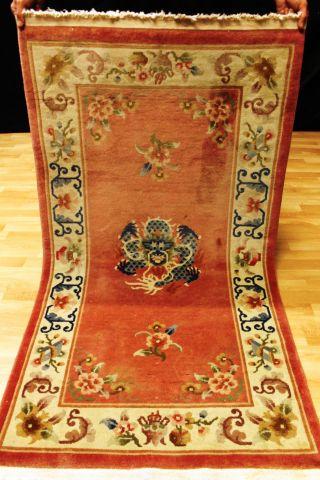 Schöner Drachen Art Deco Chinateppich 165x90cm Orient 3657 Tapis Carpet Dragon Bild