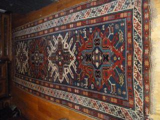 Antiker Kaukasus/russischer Kazak Um 1880/1900,  Gut Erhalten 310 X 150cm Groß Bild