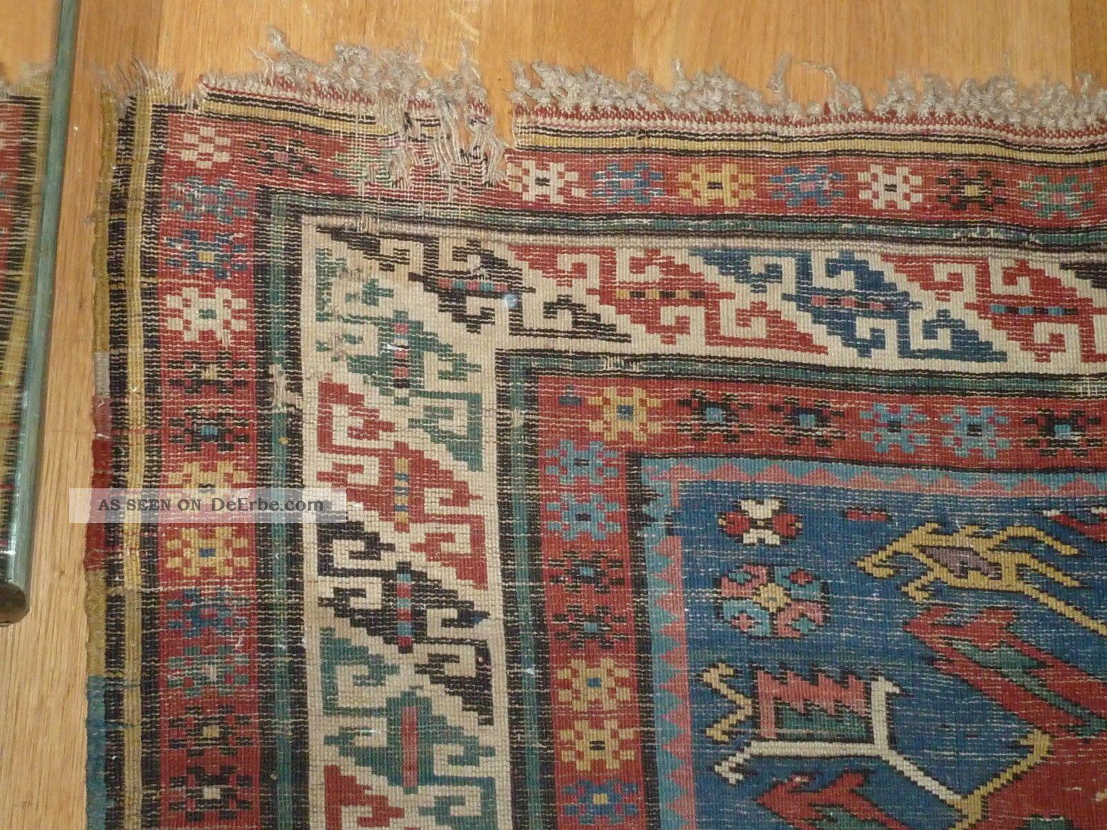 Russische Teppiche antiker kaukasus russischer kazak um 1880 1900 gut erhalten 310 x