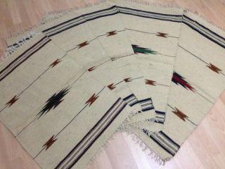 10 X Teppiche Cm 90 X 60 Cm Beige Mit Muster Wolle/jute Mit Rohseide Kelim (2) Bild